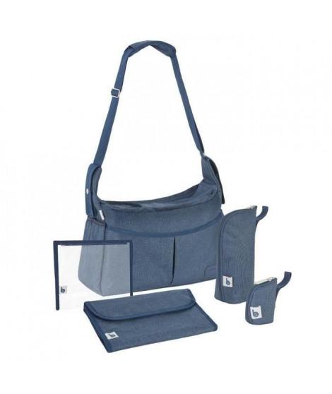 BABYMOOV Sac a langer Urban bag bleu chiné