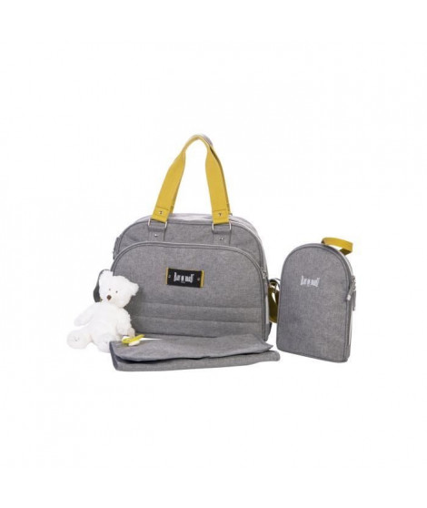 BABY ON BOARD Sac a langer URBAN YELLOWSTONE - gris/moutarde