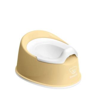 BABYBJORN Pot Smart, Jaune pastel/Blanc