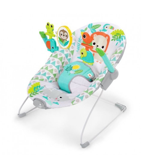 BRIGHT STARTS Transat bébé Spinnin' Safari™ avec vibration et arche de jeux