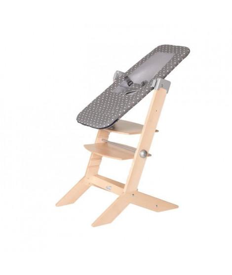 GEUTHER Transat Sit'n Sleep adaptable sur la chaise SYT - Naissance a 9 kg - Gris avec points