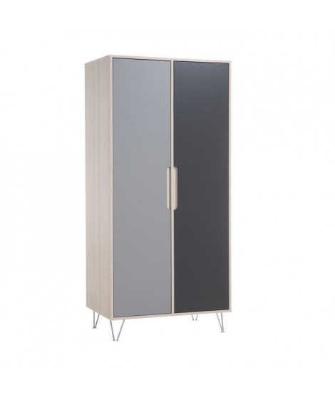 GEUTHER Marit Armoire 2 portes - acacia/gris