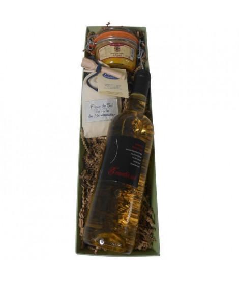 Coffret cadeaux Tandem avec vin et foie gras
