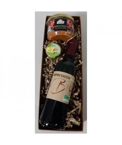 Coffret cadeaux Banneton avec vin et terrine - Bio