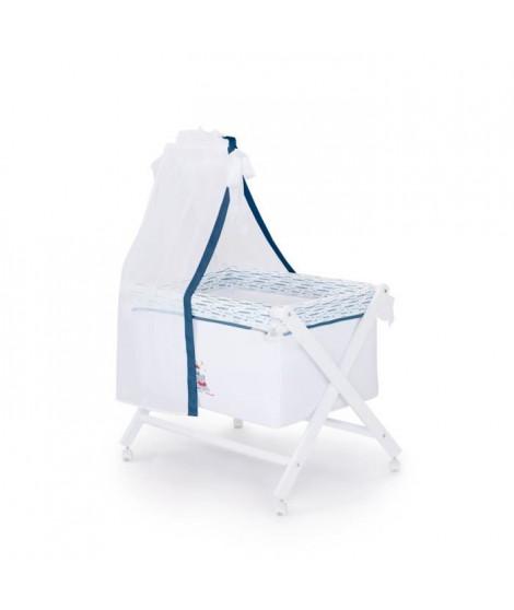 LULU CASTAGNETTE Berceau complet en bois theme Lulu Apolo 55x85 cm Bleu