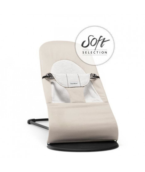 BABYBJORN Transat Balance Soft Beige/Gris, Coton/Jersey