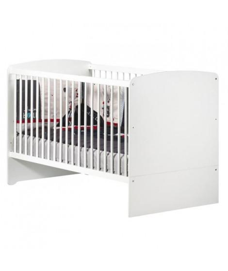 BABY PRICE New Basic Lit bébé évolutif 140x70 - Little Big Bed - Blanc