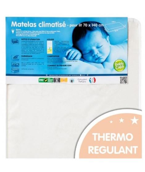 BABYCALIN Matelas Bébé Climatisé 70x140x12 cm - Traité Biome 20 kg/m3