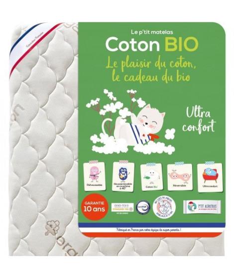 P'TIT ALBATROS Matelas Coton Bio - Bébé mixte - 70 x 140 cm