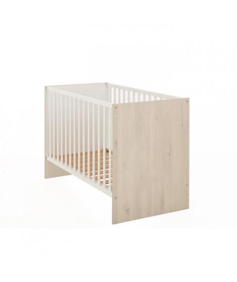 GAMI Simon Lit bébé 60 x 120 pin blanchi