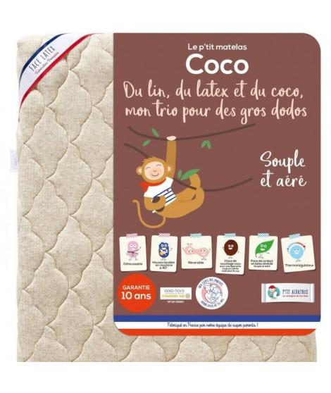 P'TIT ALBATROS Matelas réversible Coco - Bébé mixte - 70 x 140 cm