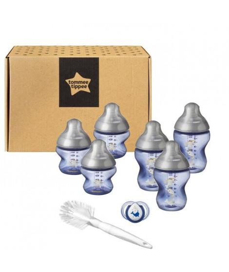 TOMMEE TIPPEE Starter Kit de Naissance biberons Closer to Nature - bleu