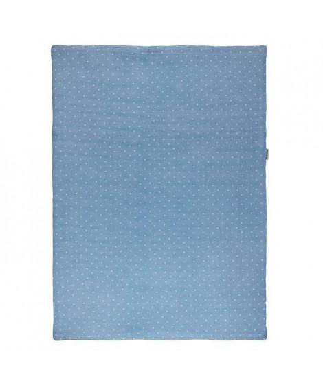 NATTOU - Pure Bleu Couverture Coton 75x100cm