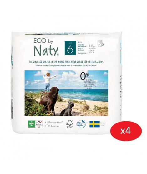 NATY - Lot de 4 paquets de Culottes d'apprentissage Taille 6 XL 12 kg 18 pcs