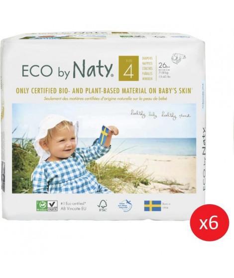 NATY - Lot de 6 paquets de couches Taille 4 Maxi 7-18 kg 26 pcs