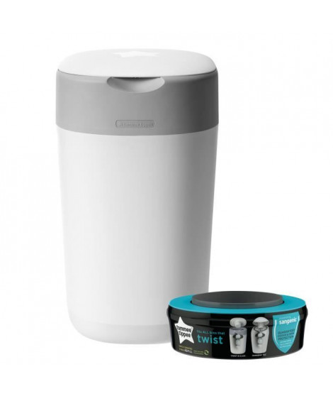 Tommee Tippee - Poubelle a couches Twist & Click - Blanc
