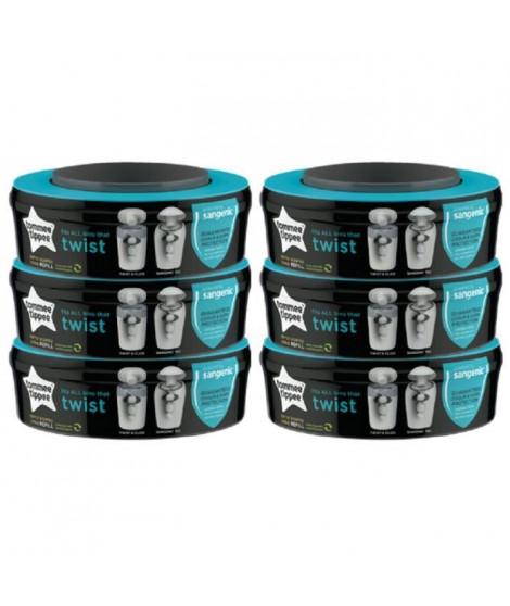 Tommee Tippee - Recharges poubelles Twist & Click x6 - compatibles avec Bac TEC
