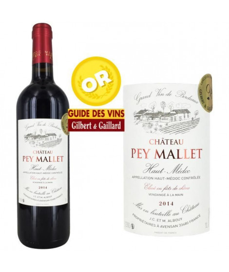 Château Pey Mallet AOC Haut Médoc 2014 - Vin rouge