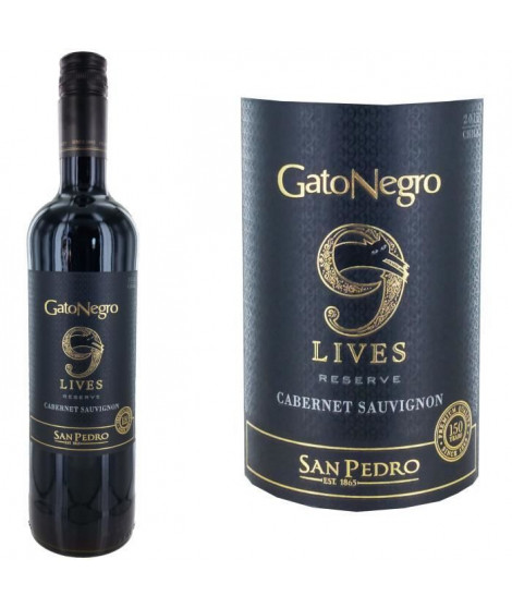 Gato Negro 9 lives 2016 San Pedro Cabernet Sauvignon - Vin rouge du Chili