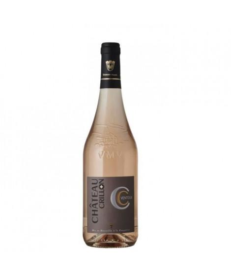 Vignerons du Mont Ventoux Château Crillon 2018 Ventoux - Vin  Rosé de la Vallée du Rhône
