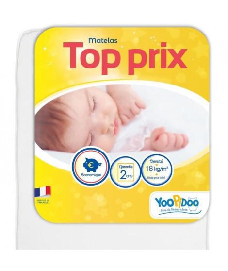 YOOPIDOO Matelas bébé Top prix - Confortable - Fabrication française - 60 x 120 x 10 cm