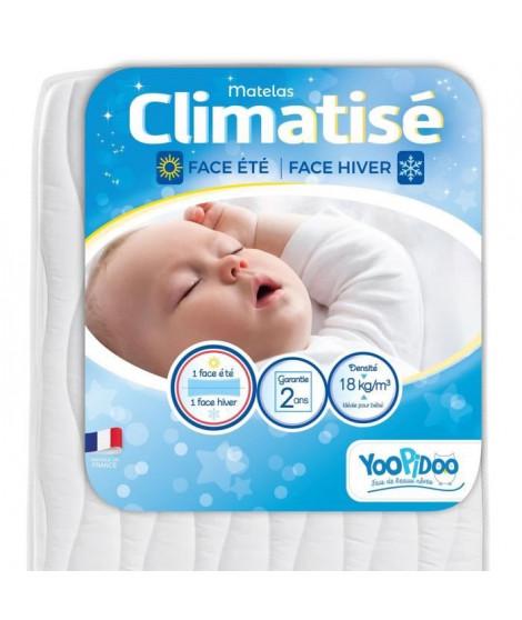 YOOPIDOO Matelas bébé Climatisé - Eté Hiver - Fabrication française - 60 x 120 x 12 cm