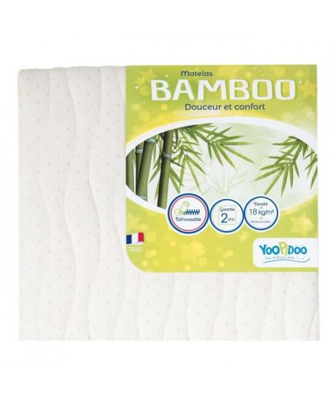 YOOPIDOO Matelas bébé Bamboo - Viscose Absorbante Douce Respirante - Fabrication française - 60 x 120 x 12 cm