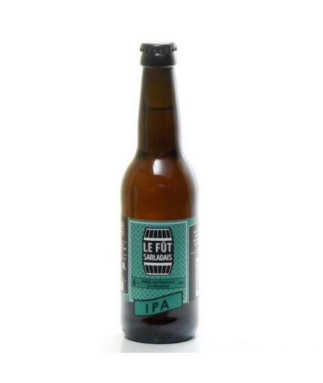 Le Fût Sarladais - Biere IPA Ambrée - 6% Vol. - 33 cl