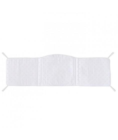 ABSORBA Tour de lit déhoussable Chut bébé dort - 100% coton - Gris
