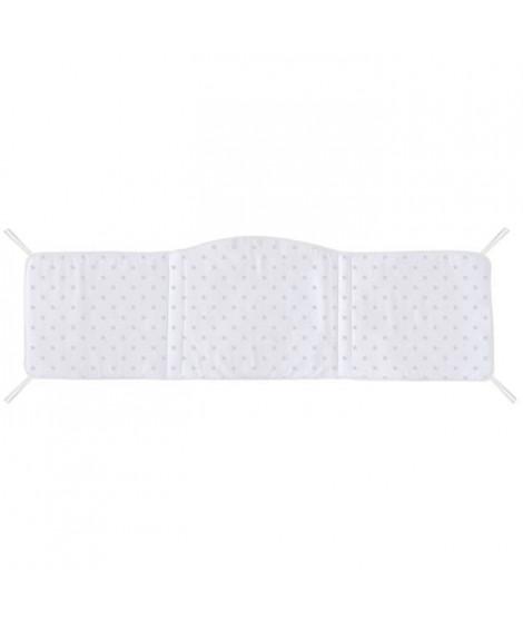 ABSORBA Tour de lit déhoussable Chut bébé dort - 100% coton - Rose