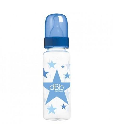 DBB REMOND Biberon Polypropylene Clear 270 Ml  Regul'air « « Etoiles  Tétine Non Silicone - System Rond - Bleu Bulle - S/Bte