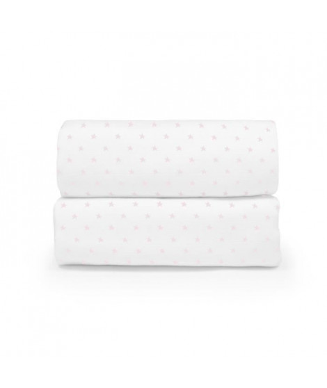 ABSORBA Set de 2 langes Chut bébé dort - 100% coton - Rose