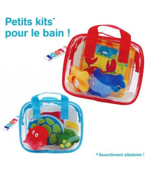 LUDI Set de Bain Bébé : 2 Aspergeurs + 1 Livre de Bain Coloris Aléatoire