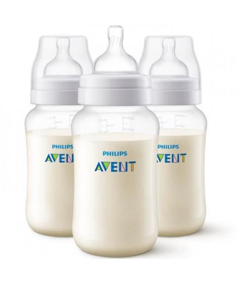 PHILIPS AVENT Lot de 3 biberons Anti-colic - Systeme anti-colliques - 330 ml