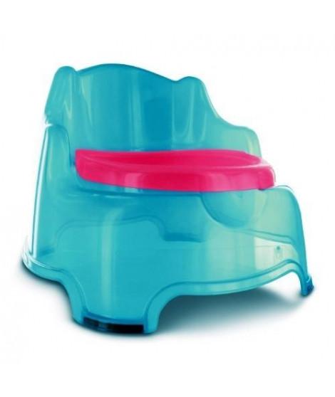 DBB REMOND Fauteuil Pot 3 en 1 avec Couvercle Turquoise Translucide