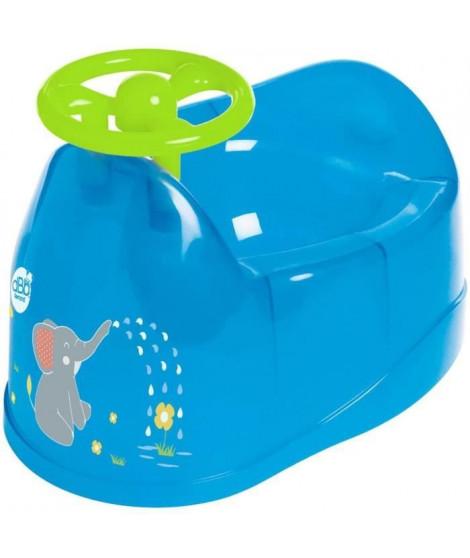 DBB REMOND Pot bébé - Décor éléphant avec volant - Bleu translucide