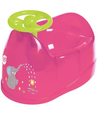 DBB REMOND Pot bébé - Décor éléphant avec volant - Bébé fille - Rose translucide