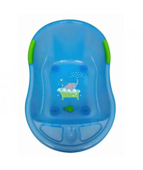 DBB REMOND Baignoire bébé décor éléphant - Bleu translucide