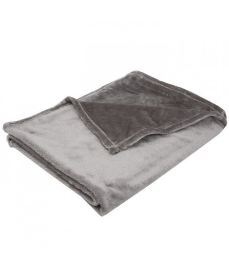 BABYCALIN Couverture flanelle 100% polyester - Taupe - 100 x 150 cm