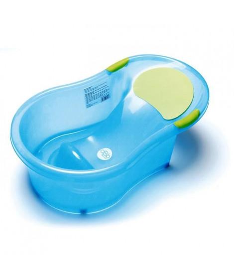 DBB REMOND Baignoire bébé + transat intégré - Bleu pailleté translucide