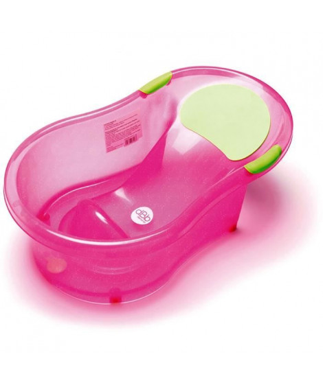 DBB REMOND Baignoire bébé + transat intégré - Rose pailleté translucide
