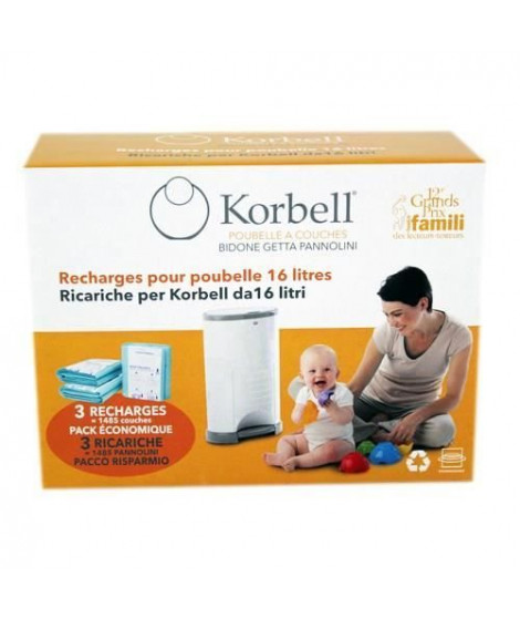KORBELL STANDARD Pack de 3 recharges 16L
