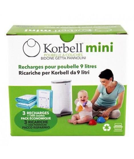 KORBELL MINI Pack de 3 recharges 9L