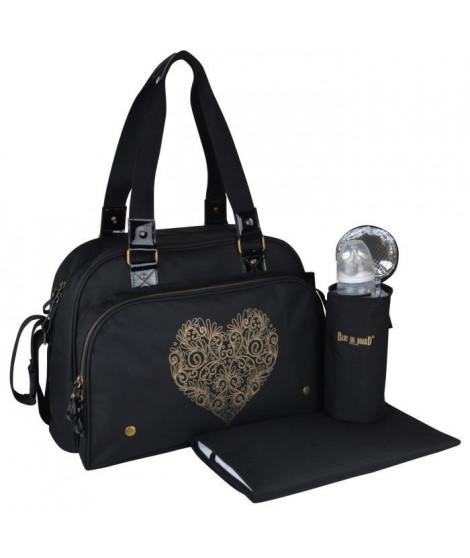 BABY ON BOARD Sac a langer Simply Premium + accessoires - Noir coeur doré