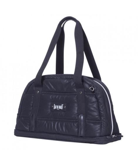 Baby on board - sac a langer - Doudoune Bag noir- sac 24h ouatiné et déperlant tapis a langer, sac repas thermo, trousse acce…