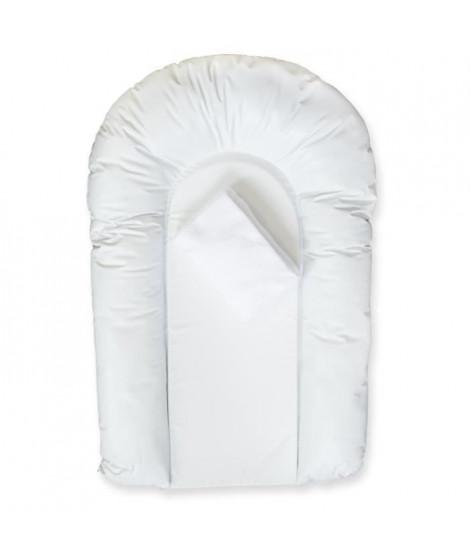 DOMIVA LOT 1 matelas a langer PVC CONFORT forme U + 1 housse éponge bouclette 50x75 cm Blanc