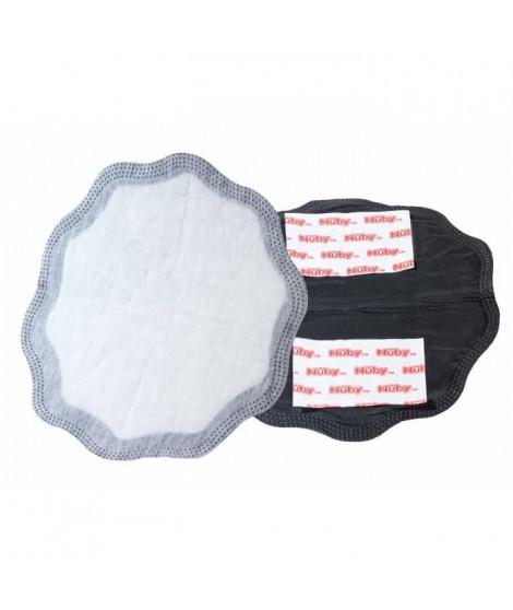 NUBY Compresses d'allaitement pour la journée - 28 pieces noirs et 2 pieces blancs