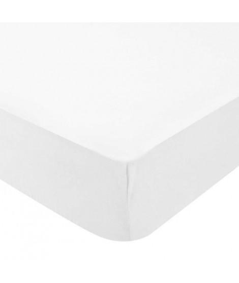 DOMIVA Drap housse BIO 130 g/m² - 60 x 120 cm - Blanc