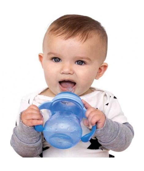 NUBY Biberon d'apprentissage avec bec anti-goutte - Bleu - 240 ml