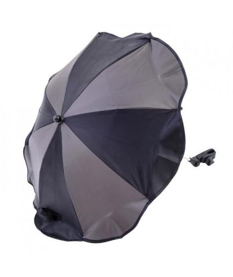 ALTABEBE Ombrelle pour Poussette universelle Anti-UV 50+, Noir/Gris Foncé
